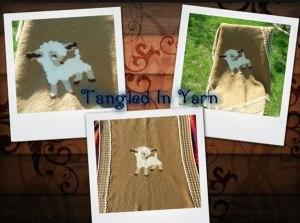 Baby Blanket, Crochet Lamb