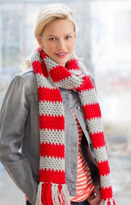 Red Heart Team Spirit Scarf