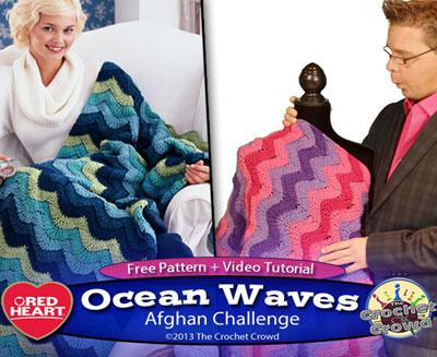 Ocean Waves Afghan - The Crochet Crowd