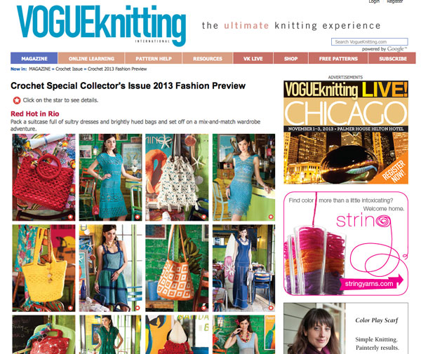 Crochet Patterns by Vogue Knitting