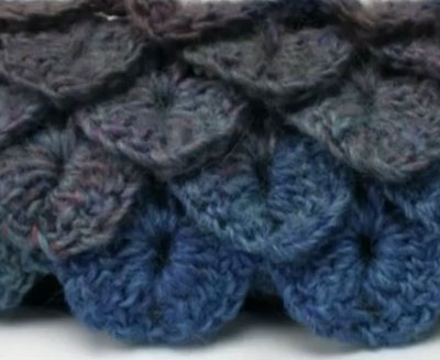 The Crocodile Stitch With Video Tutorial Free Scarf Pattern Knot