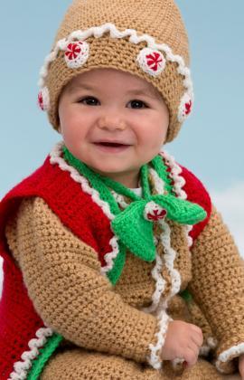 Adorable Crochet Ginger Bread Man Suit