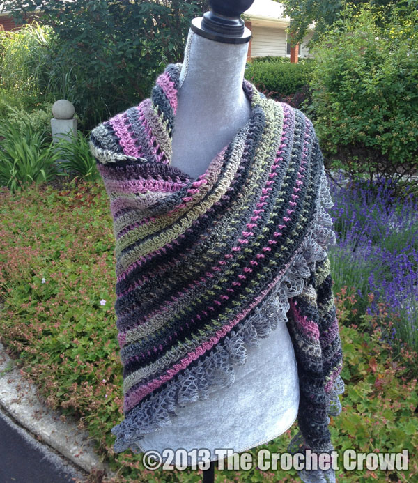 Exciting New Crochet Shawl 3 Balls Of Yarn Only Knot Just Yarn Blog