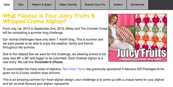 Juicy Fruits Afghan by Red Heart