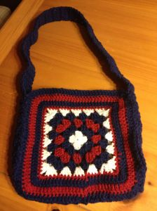 Patriotic Granny Square Bag