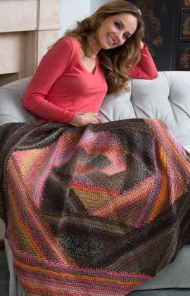 Crochet Spiral Afghan