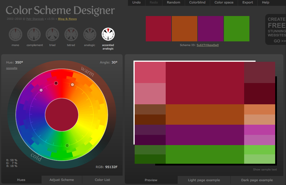 Choosing the Right Gift with A Free Color Scheme Generator Program ...