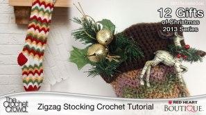 Zigzag Crochet Stocking Tutorial
