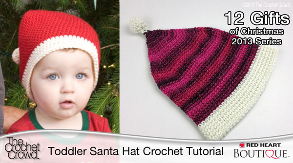 Toddler Santa Hat Crochet Pattern