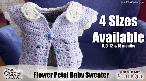 Incredible Flower Petal Baby Sweater Crochet Pattern ...