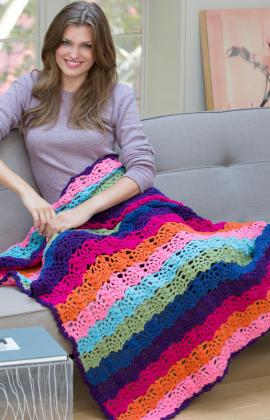 Rainbow Throw Afghan